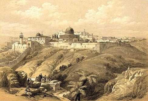 la-vallee-du-cedron-et-jerusalem-d-roberts-1855